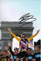 Bradley Wiggins Signed 12X8 Photo 2012 Tour de France AFTAL COA (C)