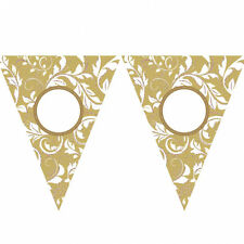 Golden Wedding Party Bunting 50th Anniversary Banner Decoration Personalise it!