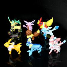 9pcs Takara Tomy Pokemon Vaporeon Jolteon Flareon Umbreon Sylveon Loose Figure