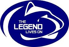 "JOE PATERNO ""LEGEND LIVES ON"" DECALS 3.5"" x 5""  (PAIR)"