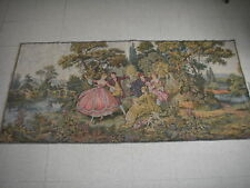 "European Tapestry Wall Hanging Couples Dancing 37""x77"""