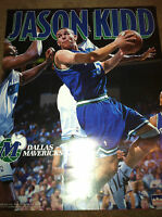 Vtg Jason Kidd Dallas Mavericks 16x20 Starline Poster 90s new NBA Brooklyn Nets