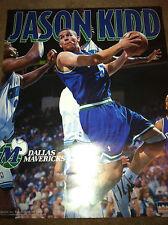 Vtg Jason Kidd Dallas Mavericks 16x20 Starline Poster 90s new NBA Brooklyn Nets