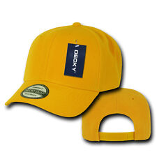 YELLOW GOLD Blank SNAPBACK HAT Plain Solid 6 Panel CURVE BILL Baseball Cap