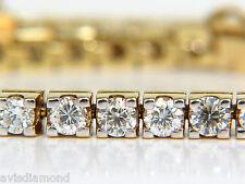 █$15000 VIDEO 6.00CT CLASSIC DIAMOND TENNIS BRACELET G/VS 14KT 7 INCH █
