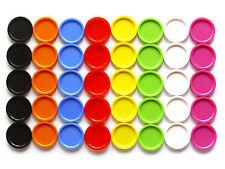100 Einkaufswagenchips mit Griffrand bunt gemischt in 13 Farben oder sortiert