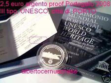 2,5 euro 2008 argento proof Portogallo UNESCO Portugal