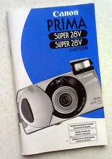 Bedienungsanleitung für Fotoapparat Canon Prima Super 28V AI AF Kamera 28 V