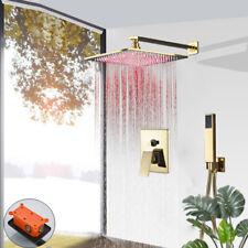 Sistemas de ducha ducha montado en la pared Combo Set 12 pulgadas LED Mezclador de ducha de lluvia