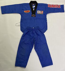 Vision Sunrise Taekwondo Black belt Club Uniform Size Child Kids 00/130