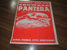 PANTERA + CROWBAR 1994 SHOW POSTER LITHO SANTA MONICA CIVIC RARE METAL DIME BAG