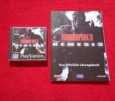 Resident Evil 3 - Play Station PSX + Lösungsbuch mit Karte ( Top )