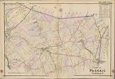 1910 PASSAIC & MORRIS COUNTY TOWNSHIP NEW JERSEY, MOUNT KEMBLE ATLAS MAP