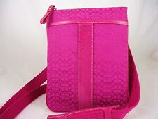 NWT Coach Signature North South Jacquard Pink Swingpack/Crossbody Shoulder 4717