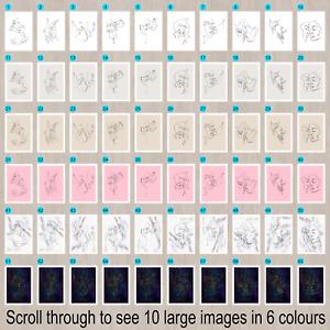 One line prints,Love,couples faces,continuous line prints, minimalist posters