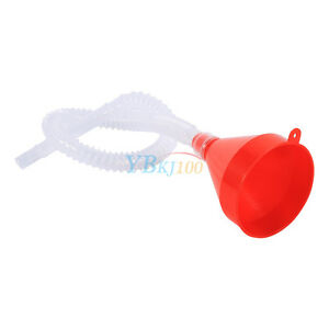 Small Plastic Funnels Pouring Liquid Oil Petrol Diesel Funnel With Soft Pipe as