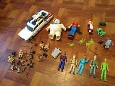 Huge Ghostbusters Lot Vintage 80's Action Figures Ecto 1 Granny Flush Stay Puff
