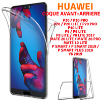 Coque Full TPU Silicone Avant+ Arriere HUAWEI P30/P20/PSMART/MATE20/MATE10/Y6