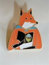 CG2742...GOLD PLATED & ENAMEL FOX LAPEL PIN - FREE UK P&P