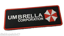 PVC Resident Evil Umbrella Corporation 3D Morale Chest Rubber Patch Fastener
