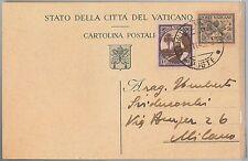 47776 -  VATICANO   - Storia Postale: INTERO POSTALE con francobolli AGGIUNTI