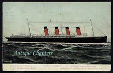 Posted September 1907 Cunard RMS Lusitania Postcard C548