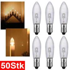 50Stk E10 LED-Ersatzlampen Glühbirnen Topkerze für Lichterkette Lichterbogen De