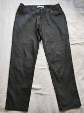 BLUE GRAE DENIM Black Coated Skinny PANTS Size 16 SLIM LEG Stretch Cocktail Eve