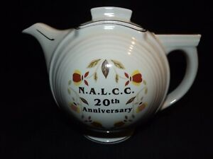 Autumn Leaf Jewel Tea by Hall China: Basketball Teapot with Lid (NALCC 20th) 14B