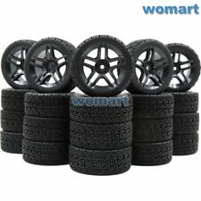 20pcs 1/10 on road Touring Tires & hex 12mm Wheels rims For RC 1:10 Racing Car