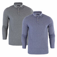 Mens Long Sleeve Polo Shirt Brave Soul 'Briar' Pique Casual Top Sizes  S-XL