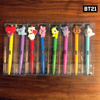 BTS BT21 Official Authentic Goods Gel Pen Active Ver 8SET CHIMY COOKY TATA Etc