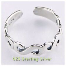 Solid Sterling Silver Toe Ring Polished Silver Adjustable **SEE OUR EBAY STORE *