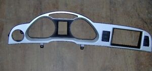 10 11 AUDI A6 INSTRUMENT PANEL FACE PLATE SILVER 4F1857115J CRUISE GLOVE BOX