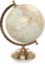 Copper Metal World Globe Stand Vintage Rotating Atlas Office Desk Ornament