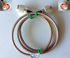 N male plug to N male Jumper Pigtail Cable RG142 from 6 inch up to 10 feet USA
