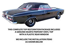 PLYMOUTH FURY & SPORTS FURY CONVERTIBLE TOP DO IT YOURSELF PKG 1962