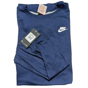 Nike Mens T-Shirt Navy Blue Size 3XL Long Sleeve Graphic Logo Tee