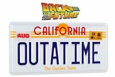 Zurück in die Zukunft Replik 1/1 Outatime DeLorean Nummernschild