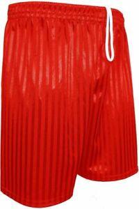 2 PACK Unisex Boys Girls Shadow Striped Sports School PE Shorts Football 3-13