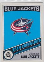 19/20 OPC...COLUMBUS BLUE JACKETS TEAM CHECKLIST...RETRO..BLANK BACK..CARD # NNO