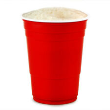 More details for red american party cups 16oz / 455ml- x1000 | beer pong rigid reusable cups