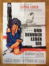 Und dennoch leben sie (Kinoplakat '61) - Sophia Loren / Jean-Paul Belmondo