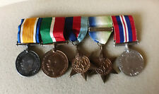 WW1 & WW2 Group of 5 Medals inc Atlantic Star with bar to Captain James Foster