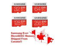 Samsung EVO Plus micro SD microSD SDHC SDXC 100MB/s 4K Class 10