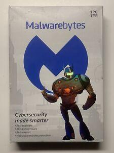 Malwarebytes Cybersecurity 1 Year Software (PC) BRAND NEW SEALED