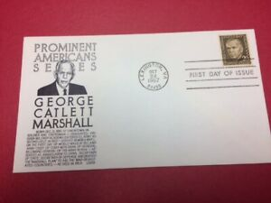#1289 FDC 1967 Anderson 20c L23 Prominent Americans- George Marshall - Black