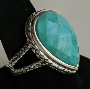 Vintage Barse Sterling Silver Turquoise Ring SIze 4.75