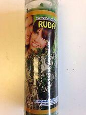 RUE PREPARED 7 DAY SCENTED GREEN CANDLE IN GLASS (RUDA / ARRUDA)