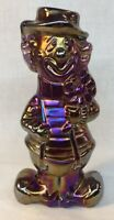 Boyd Art Glass Royal Plum Carnival Virgil The Clown